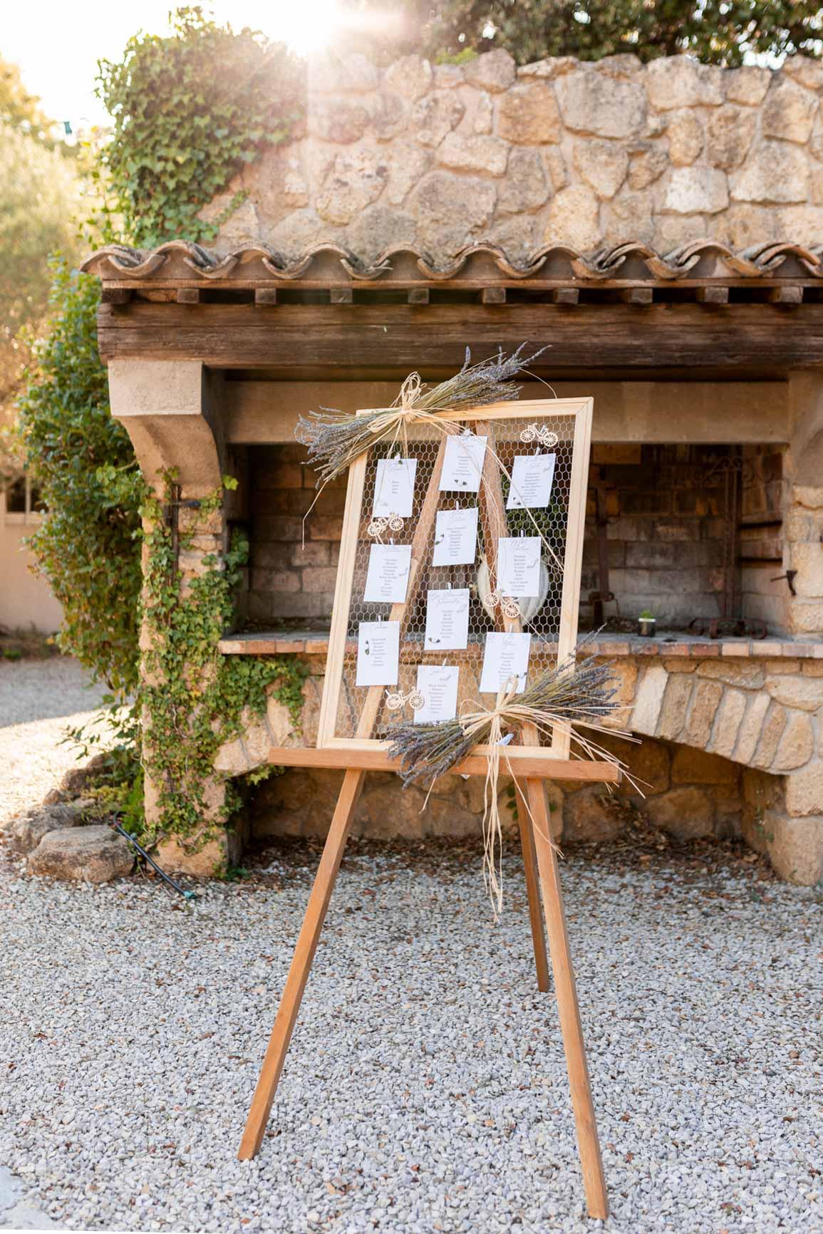 Plan de table mariage Grans | Justine Maquart Photographe